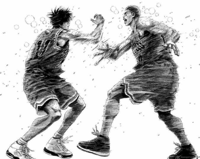 Slam Dunk Rukawa Vs Sakuragi