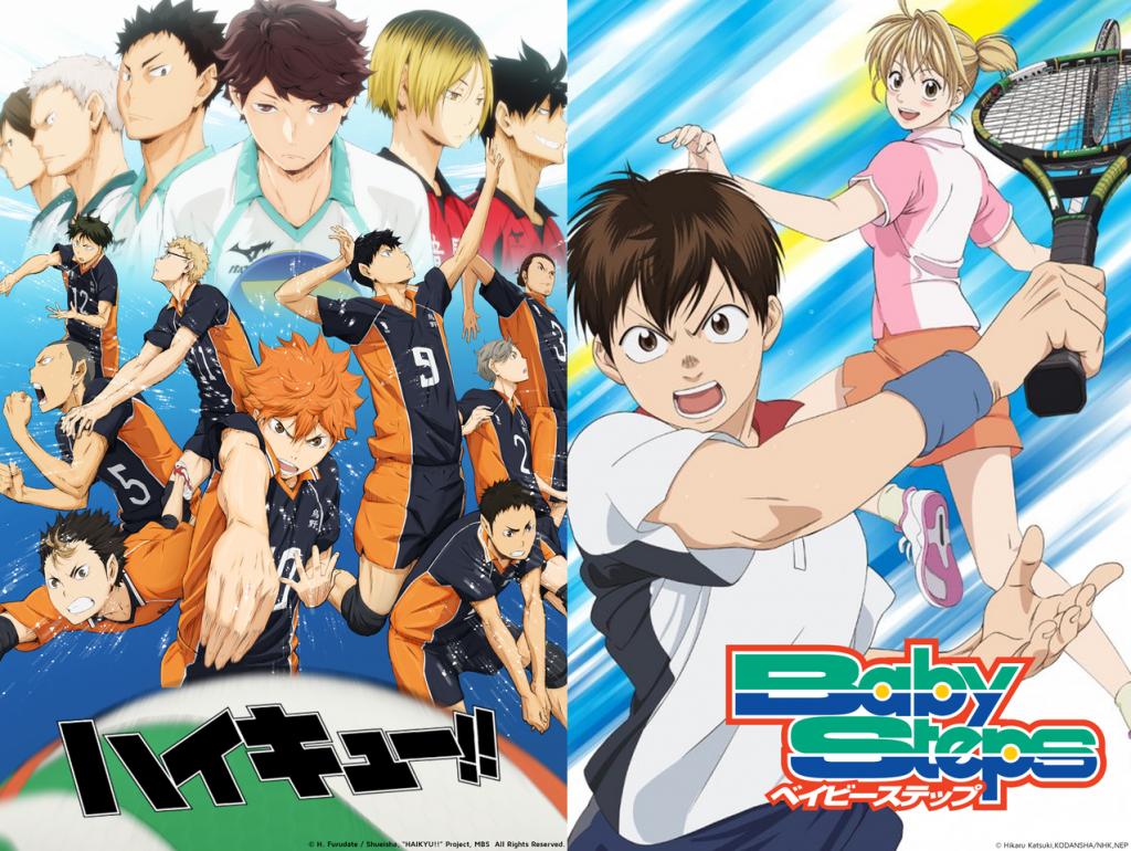 Double Sports Anime Treats Baby Steps Haikyuu